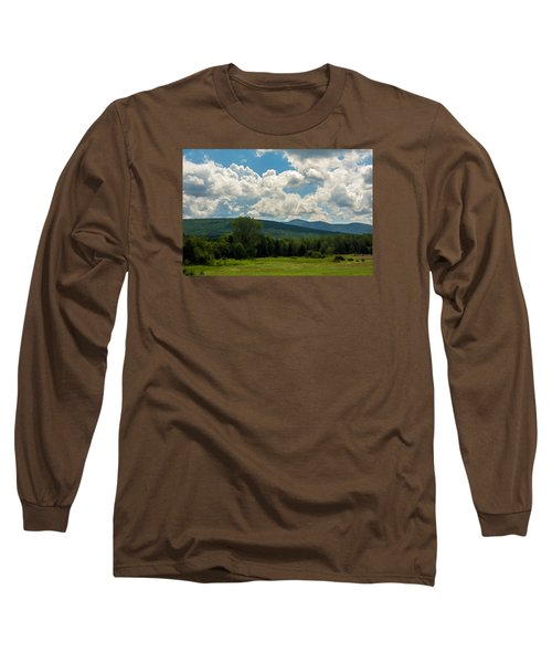 Pastoral Landscape With Mountains Long Sleeve T-Shirt
