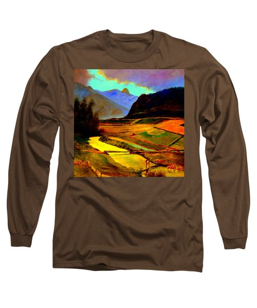 Pasture In The Mountains Long Sleeve T-Shirt