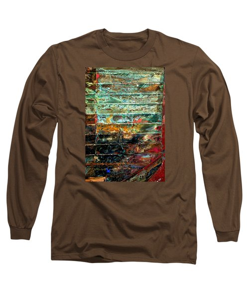 Patchworks 1 Long Sleeve T-Shirt by Newel Hunter