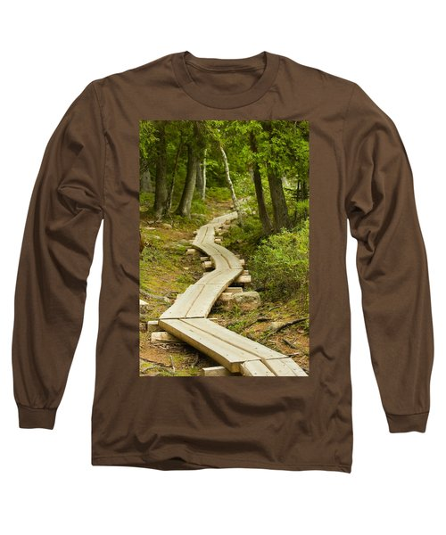 Path Into Unknown Long Sleeve T-Shirt by Sebastian Musial
