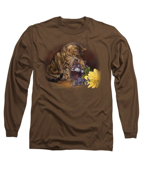 Paw In The Vase Long Sleeve T-Shirt by Lucie Bilodeau