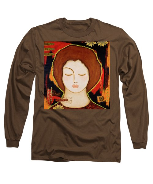 Long Sleeve T-Shirt featuring the painting Peace Messenger by Gloria Rothrock