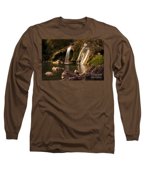 Long Sleeve T-Shirt featuring the photograph Peaceful Day At Turner Falls by Tamyra Ayles
