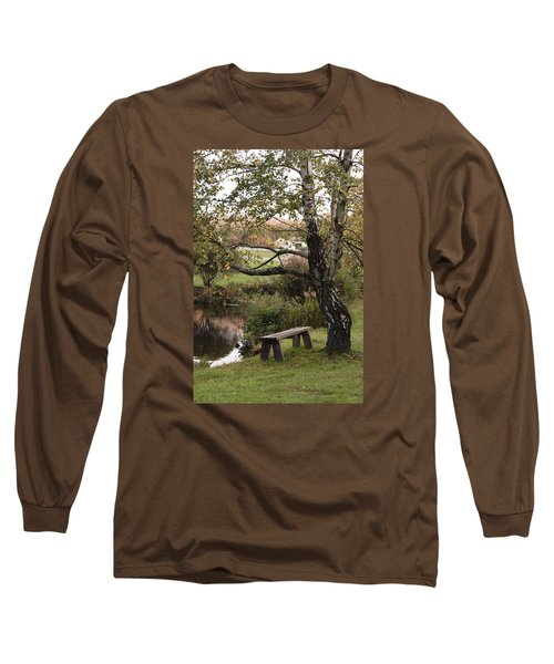 Peaceful Retreat Long Sleeve T-Shirt by Margie Avellino