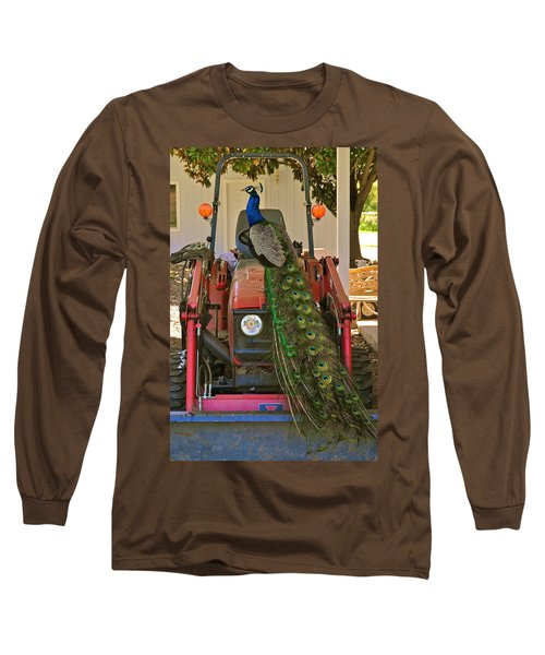 Peacock And His Ride Long Sleeve T-Shirt
