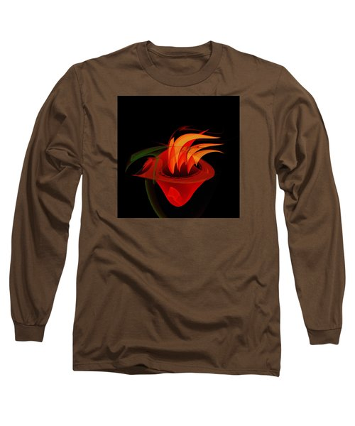 Long Sleeve T-Shirt featuring the painting Penman Original-311-when You Are Hungry by Andrew Penman