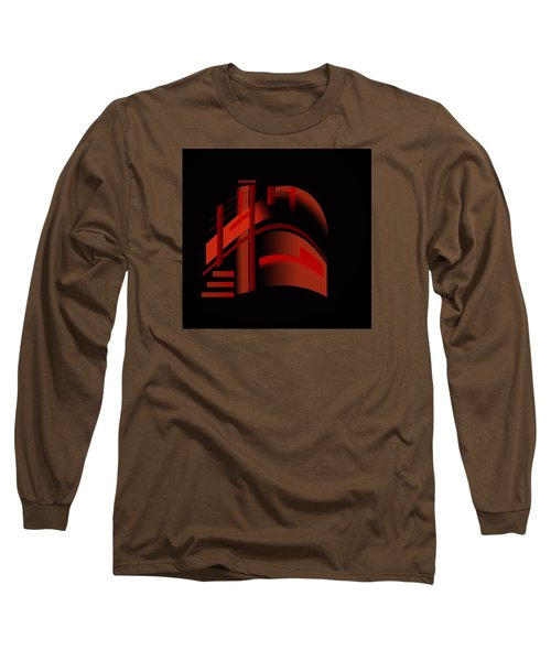 Long Sleeve T-Shirt featuring the painting Penman Original-313 From A Crowded Room by Andrew Penman