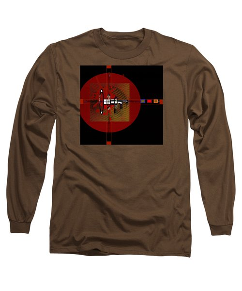 Long Sleeve T-Shirt featuring the painting Penmanorigina-260 by Andrew Penman