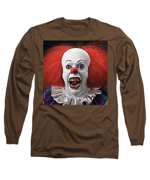 Pennywise The Clown Long Sleeve T-Shirt by Taylan Apukovska