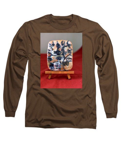 Pensamiento Abstracto Long Sleeve T-Shirt by Edgar Torres