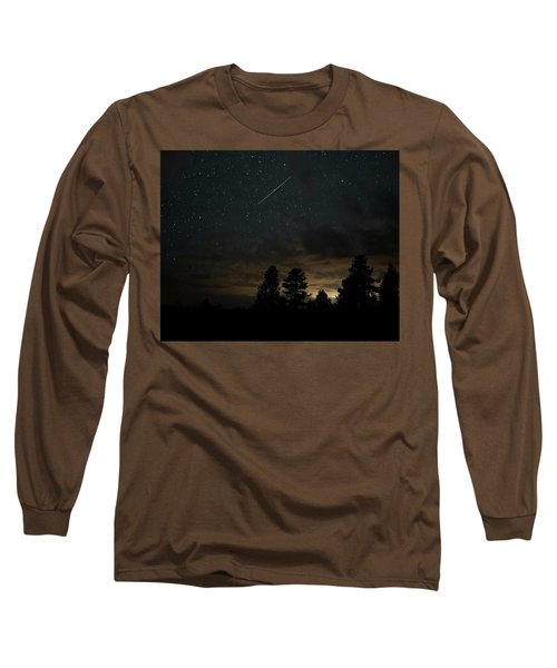 Long Sleeve T-Shirt featuring the photograph Perseid Meteor by Bill Gabbert