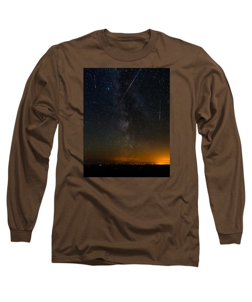 Perseids Meteor Shower Long Sleeve T-Shirt