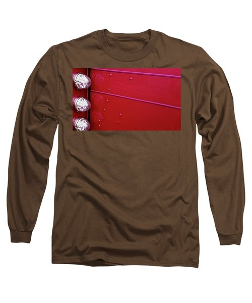 Peterbuilt Hood And Lamps Long Sleeve T-Shirt by Jerry Sodorff