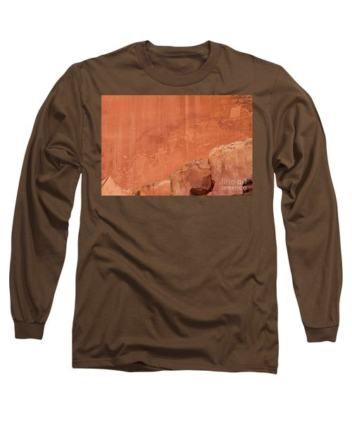 Petroglyphs In Capital Reef Long Sleeve T-Shirt