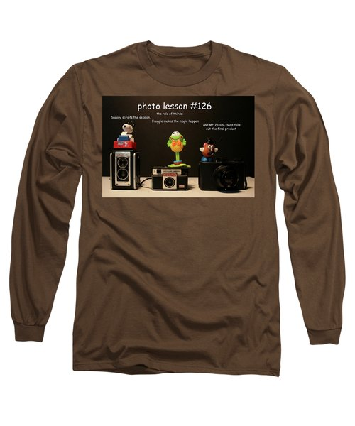 Photo Lesson  Long Sleeve T-Shirt by Toni Hopper