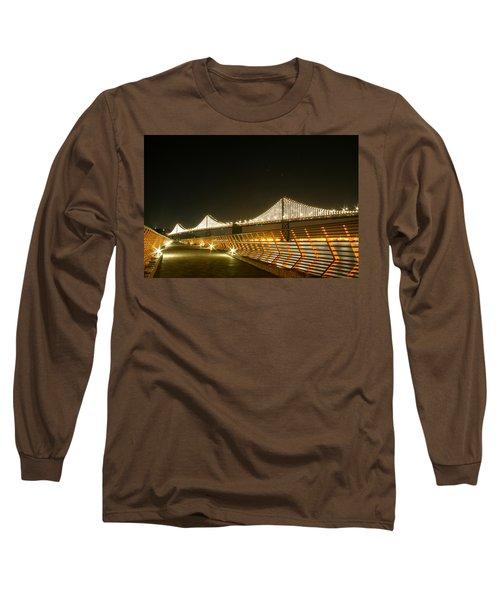 Pier 14 And Bay Bridge Lights Long Sleeve T-Shirt