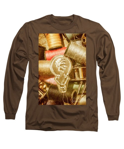 Pin And Vintage Stitch Long Sleeve T-Shirt