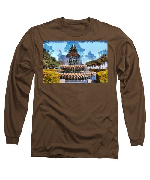 Pineapple Fountain Long Sleeve T-Shirt
