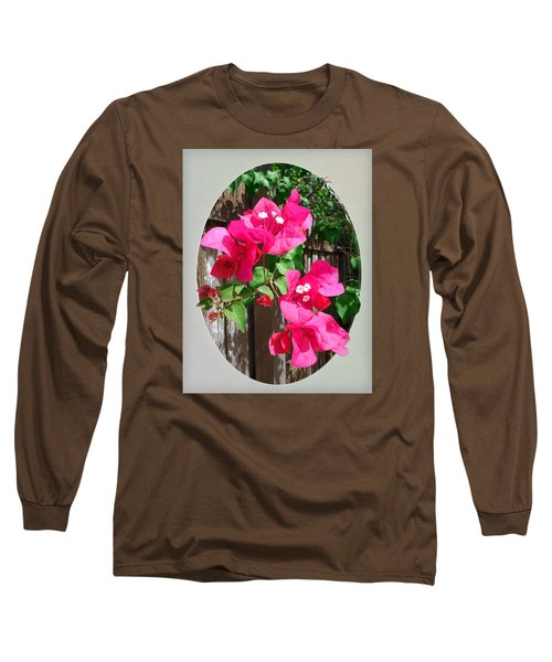 Long Sleeve T-Shirt featuring the photograph Pink Bougainvillea by Ginny Schmidt