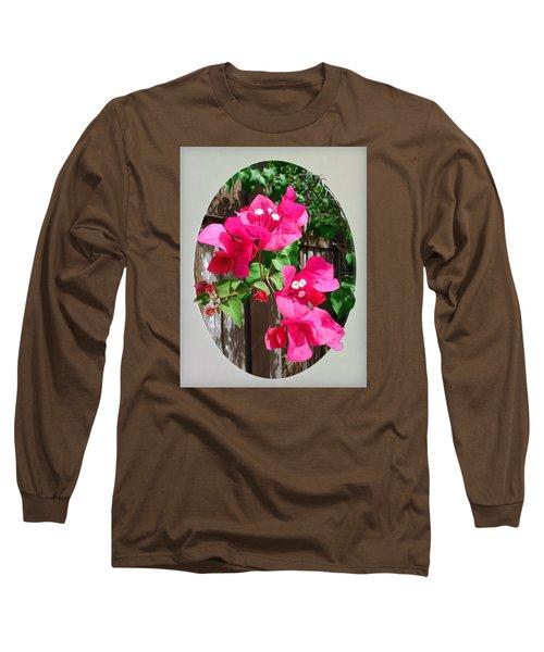 Pink Bougainvillea Long Sleeve T-Shirt