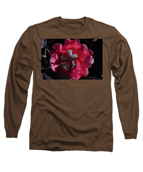 Pink Camillia And Selected Color Long Sleeve T-Shirt