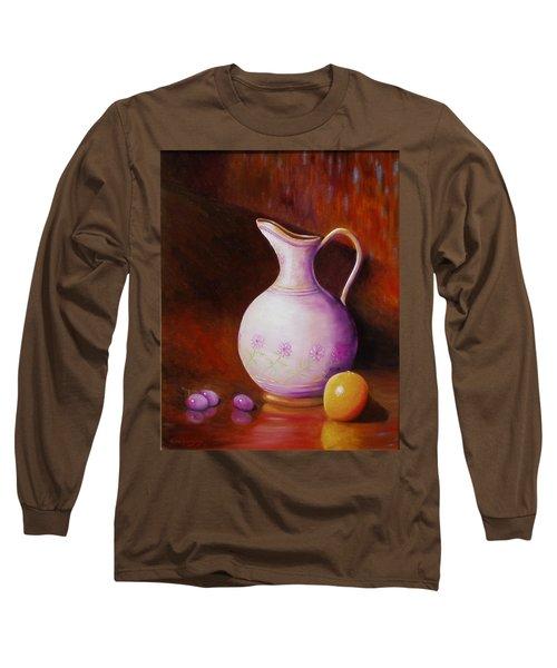 Pink Pitcher Long Sleeve T-Shirt