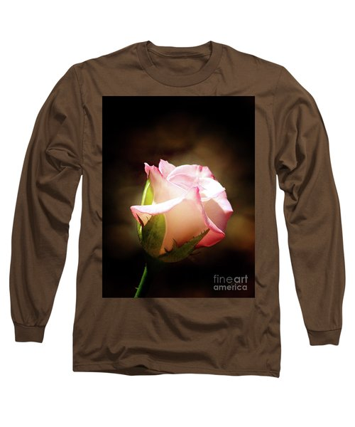 Pink Rose 2 Long Sleeve T-Shirt by Inspirational Photo Creations Audrey Woods