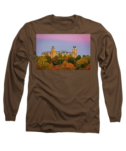 Pink Sky Over Old Main  Long Sleeve T-Shirt