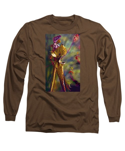 Pitcher Plant Long Sleeve T-Shirt by Janis Nussbaum Senungetuk