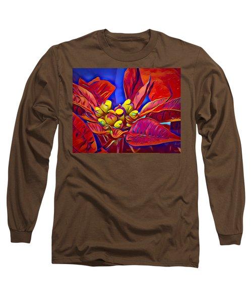 Poinsettia Closeup Long Sleeve T-Shirt
