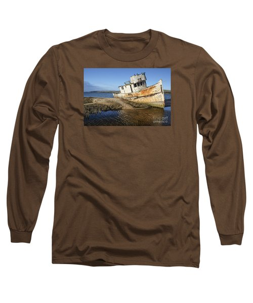 Point Reyes Shipwreck Long Sleeve T-Shirt by Amy Fearn