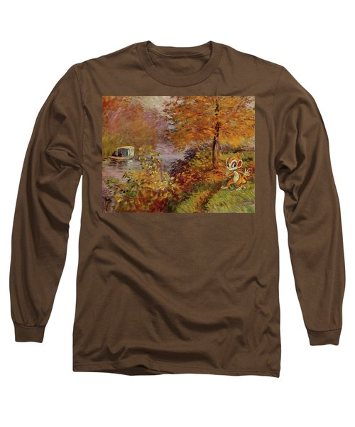 Long Sleeve T-Shirt featuring the digital art Pokemonet by Greg Sharpe