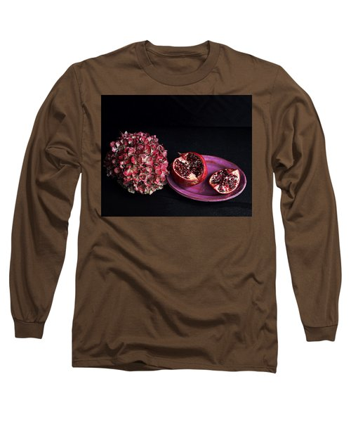 Pomegranate Still Life Long Sleeve T-Shirt