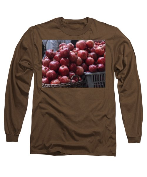 Pomegranates At Jerusalem's Old City Market Long Sleeve T-Shirt
