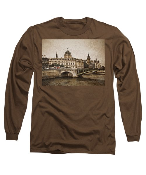 Paris, France - Pont Notre Dame Oldstyle Long Sleeve T-Shirt