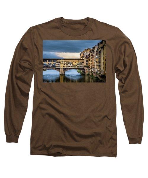 Ponte Vecchio E Gabbiani Long Sleeve T-Shirt by Sonny Marcyan