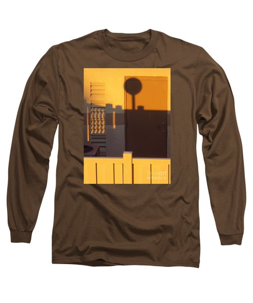 Pool House Shadow At Sunrise. Long Sleeve T-Shirt