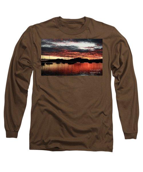 Port Denarau Fiji At Sunrise Long Sleeve T-Shirt