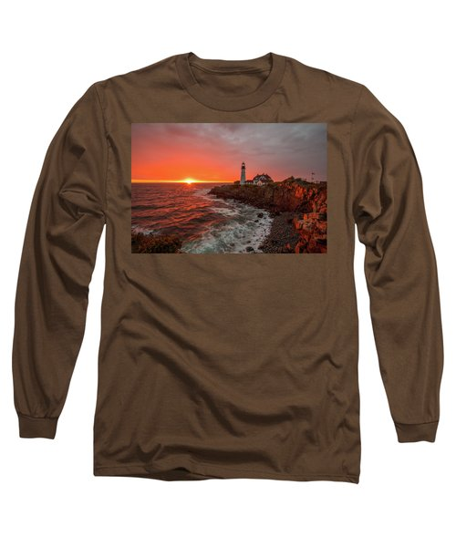 Portland Head Sunrise Long Sleeve T-Shirt