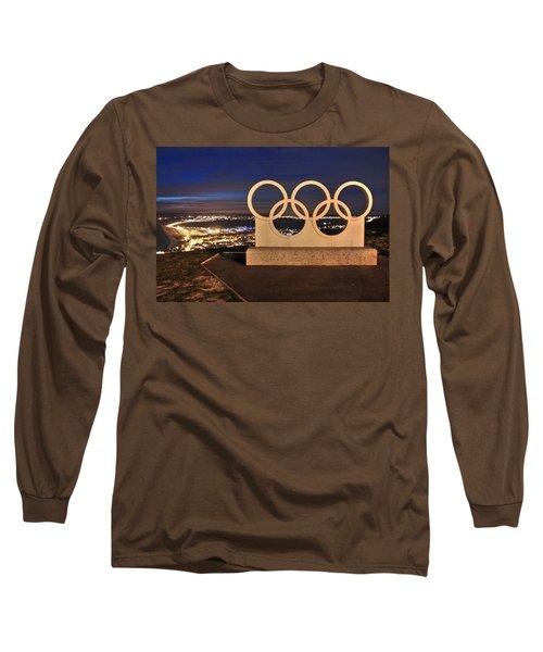 Portland Olympic Rings Long Sleeve T-Shirt