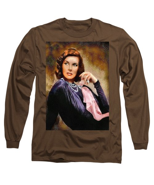 Portrait Of Katherine Hepburn Long Sleeve T-Shirt