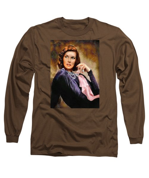 Portrait Of Katherine Hepburn Long Sleeve T-Shirt