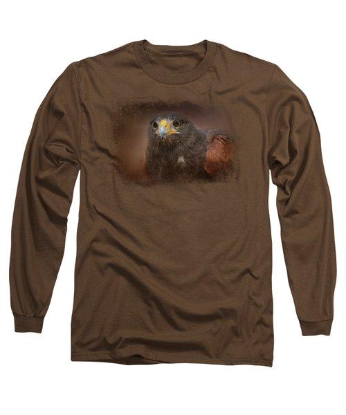 Portrait Of The Harris Hawk Long Sleeve T-Shirt