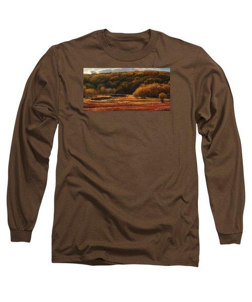 Prairie Autumn Stream No.2 Long Sleeve T-Shirt by Bruce Morrison