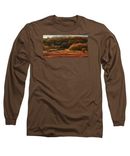 Prairie Autumn Stream No.2 Long Sleeve T-Shirt