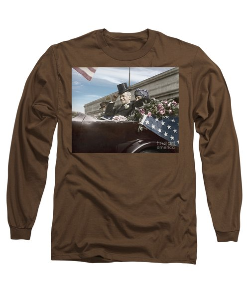 President Woodrow Wilson 1919 Color Long Sleeve T-Shirt