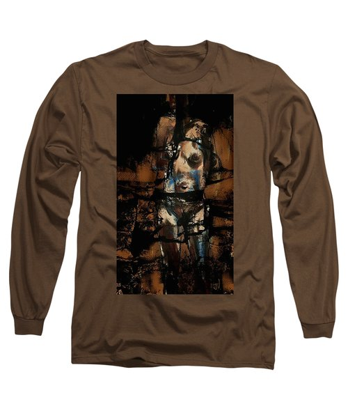 Long Sleeve T-Shirt featuring the painting Pressure Cracked by Jim Vance