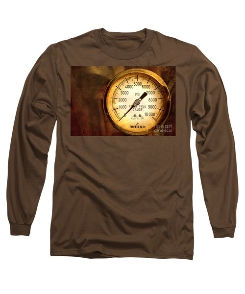 Long Sleeve T-Shirt featuring the photograph Pressure Gauge by Charuhas Images