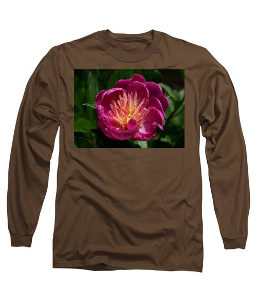 Pretty Pink Peony Flower Long Sleeve T-Shirt