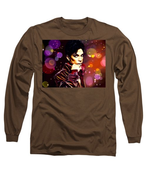 Prince Spotlight Painting Long Sleeve T-Shirt by Scott Wallace